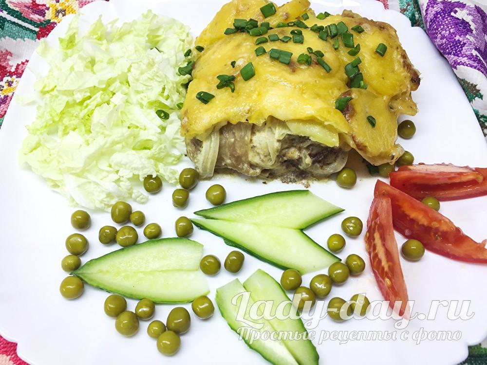 Картошка с куриными окорочками в духовке