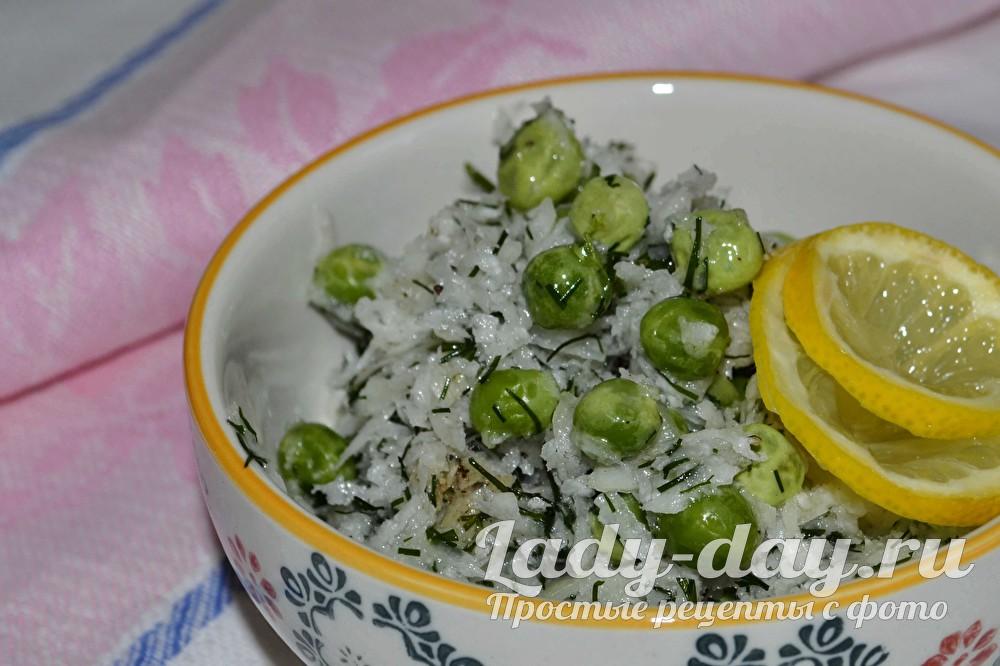 Салат из чёрной редьки фото