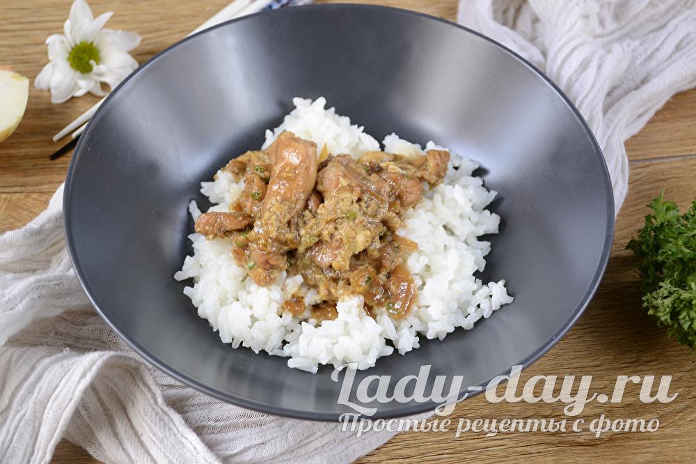 курица в соевом соусе на сковороде рецепт с фото