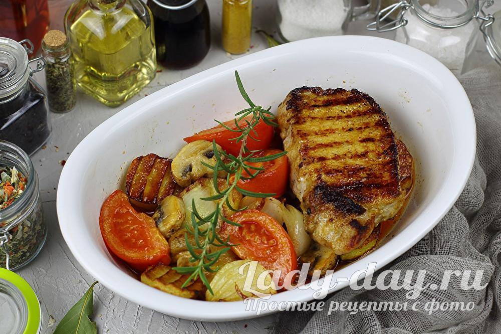 свинина с овощами в духовке рецепты с фото