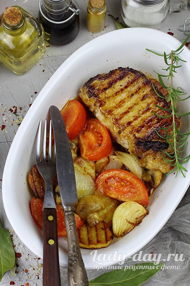 свинина с овощами в духовке рецепты с фото простые и вкусные