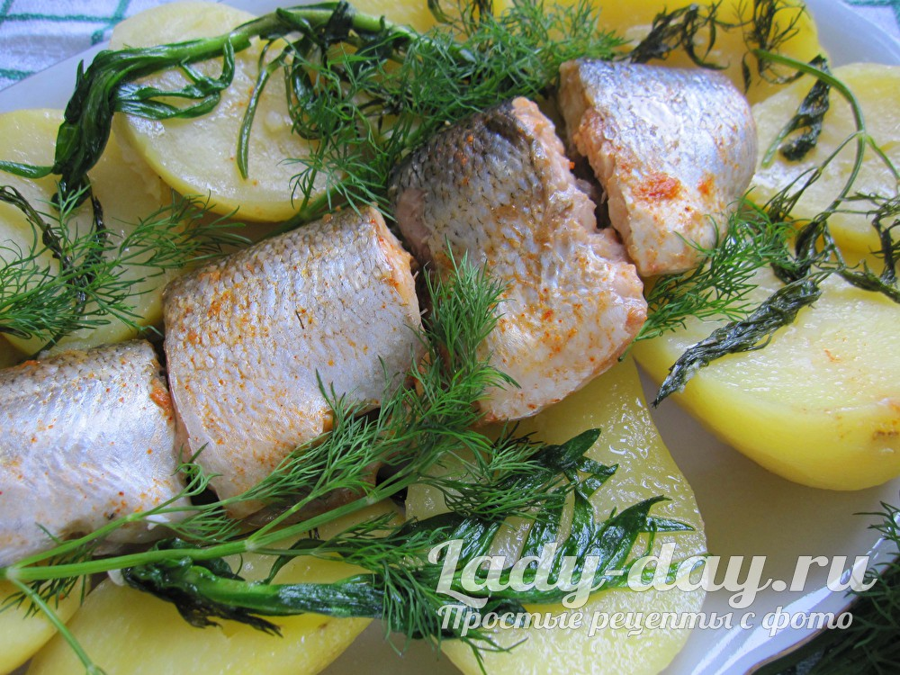 Рыба с тархуном и картошкой