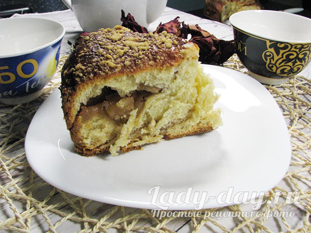 Яблочный пирог из дрожжевого теста, рецепт