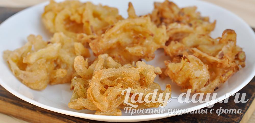 лук в кляре рецепт с фото пошагово на сковороде
