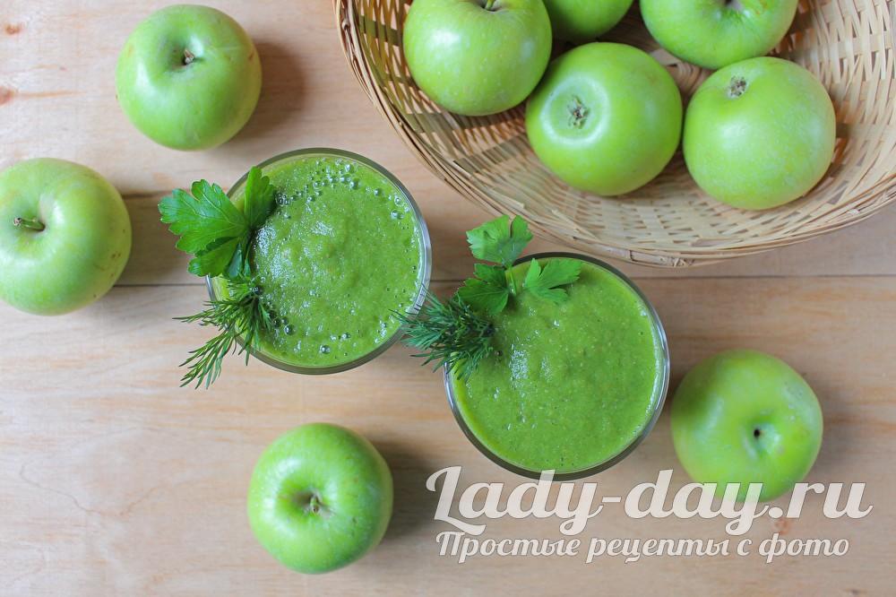 Зеленый коктейль, рецепт