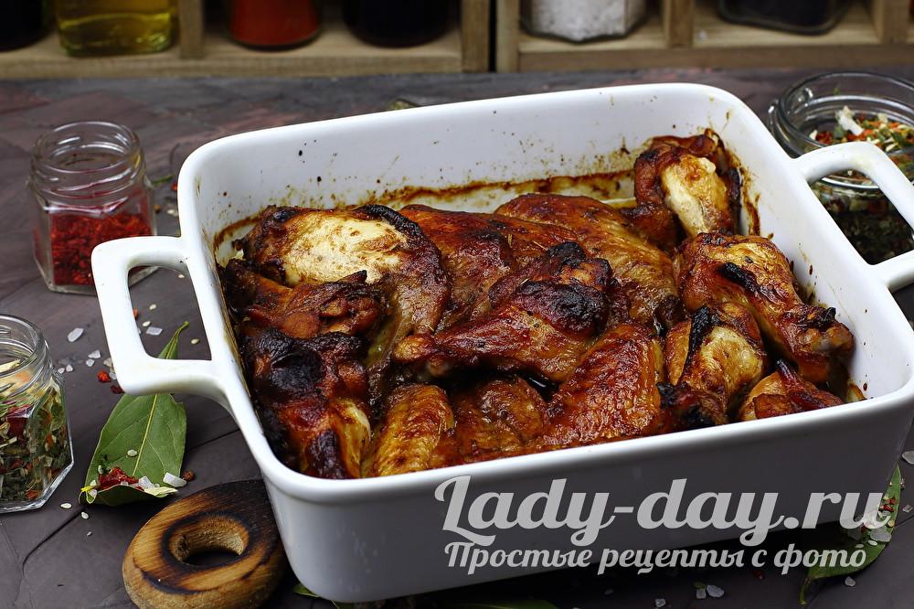 Куриные крылышки в соусе терияки, в духовке