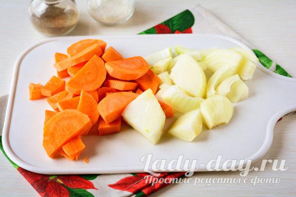 порезать овощи