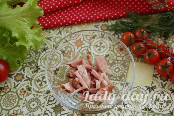 слой колбасы