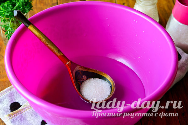 сахар в воду