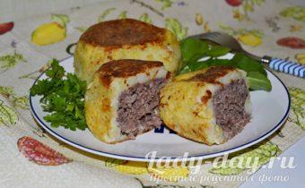 картофельные зразы с фаршем как приготовить