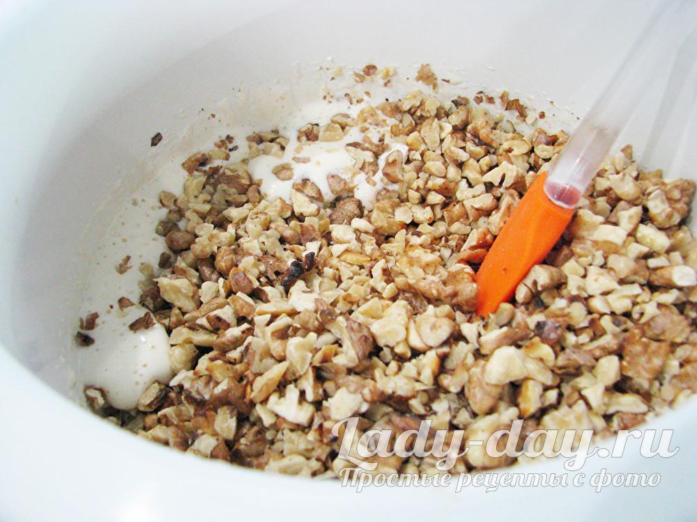 орехи в тесто