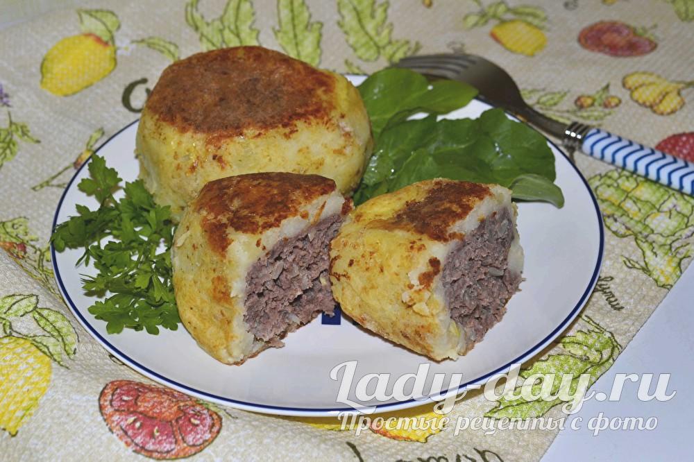картофельные зразы с фаршем фото