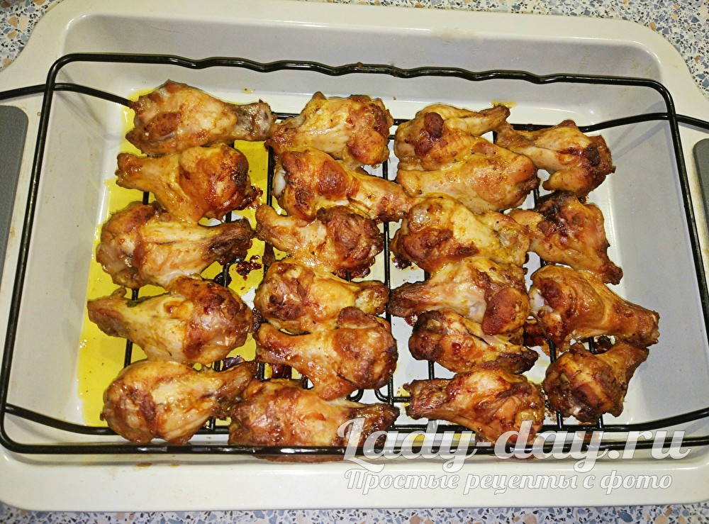 Рецепт крылышек в соевом соусе с горчицей, в духовке