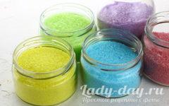 как сделать цветной сахар в домашних условиях