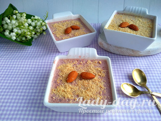Десерт из ряженки с желатином