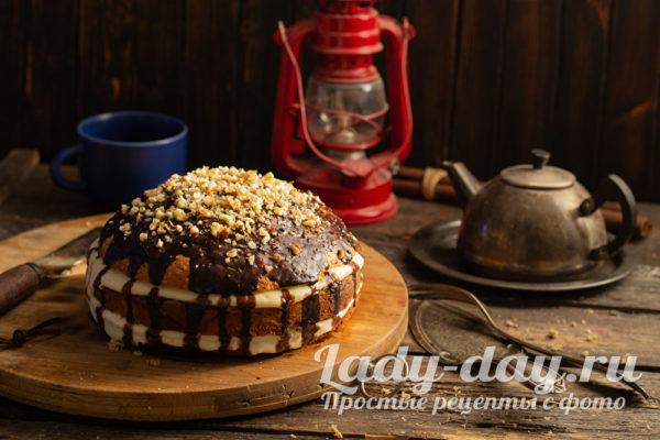 кремовый торт с глазурью