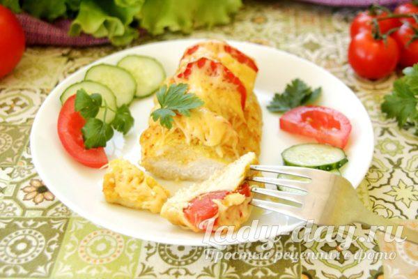 курочка с томатами и сыром