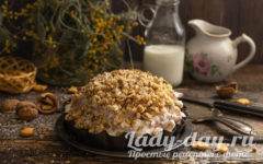 Торт из печенья со сгущенкой без выпечки