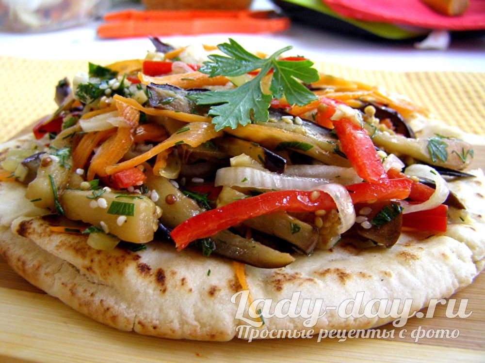Баклажаны с овощами по-корейски – простой и быстрый рецепт
