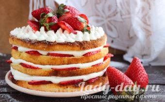 фото торта с клубникой