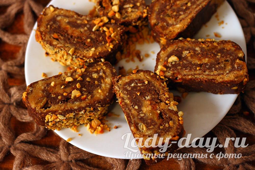 сладкая колбаска из печенья и какао рецепт с фото пошагово