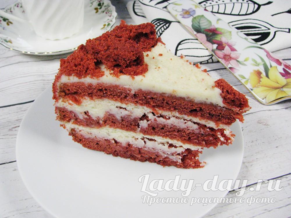 торт красный бархат с фото