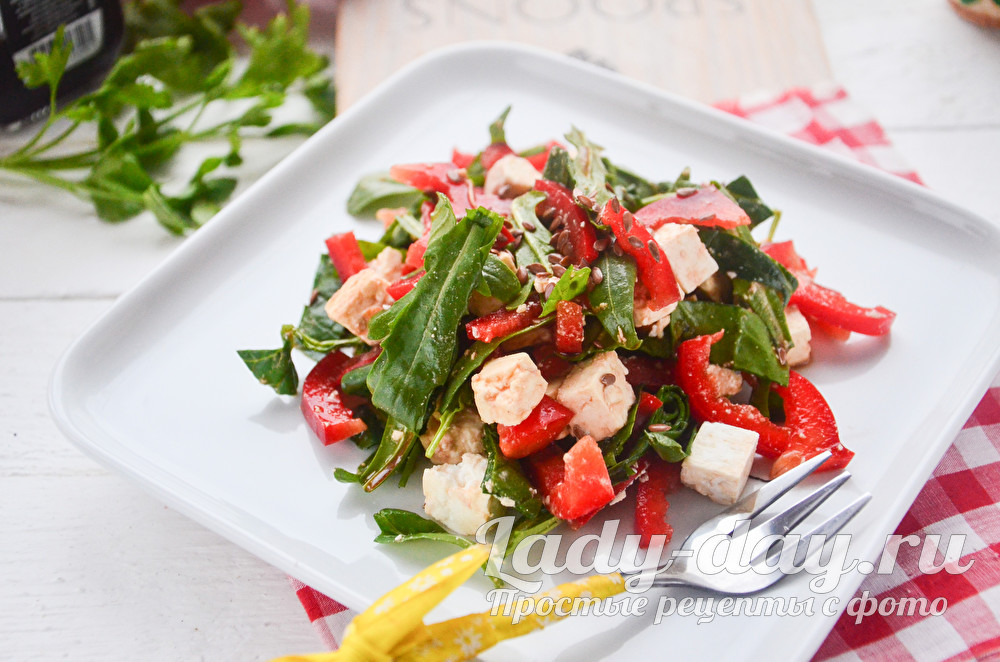 Салат с брынзой и болгарским перцем