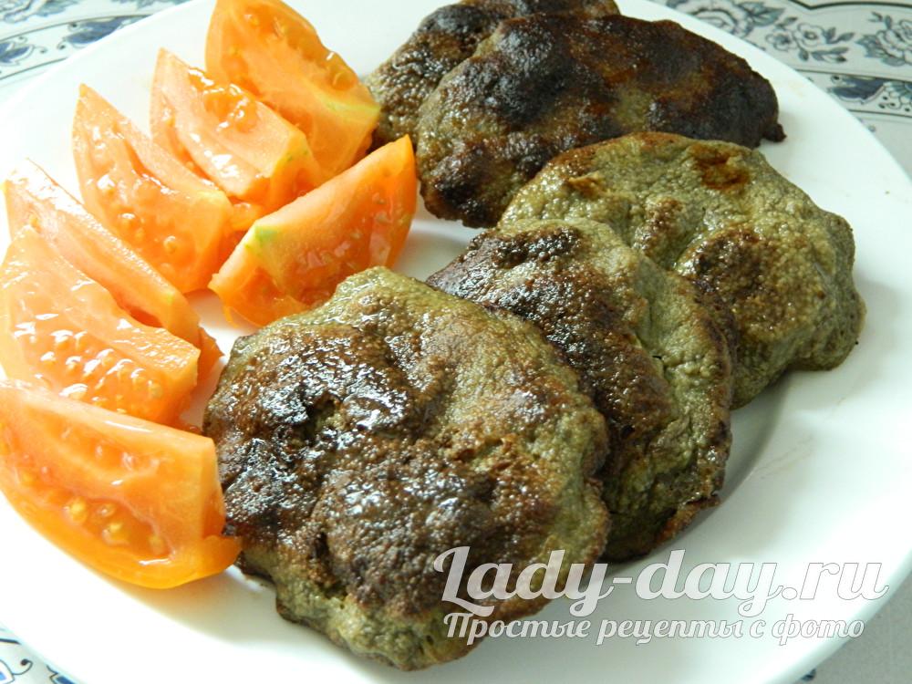 печеночные котлеты из говяжьей печени с манкой фото