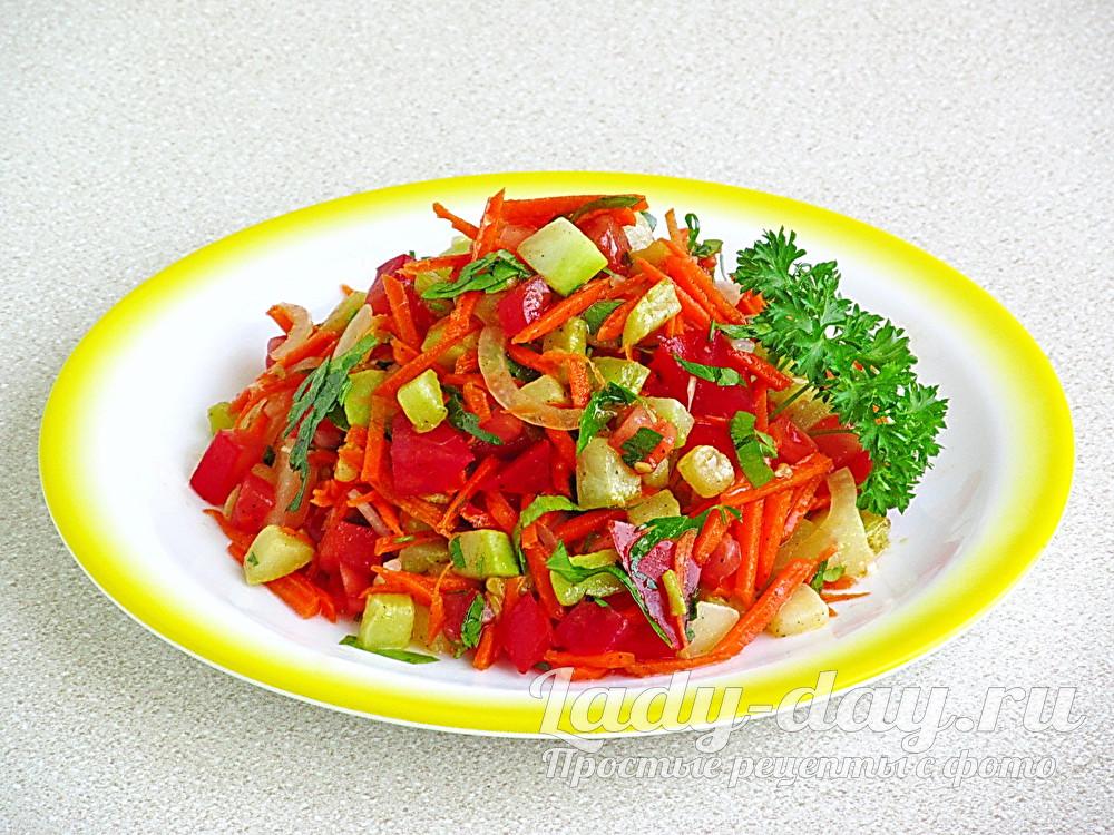 Салат из кабачков быстрый