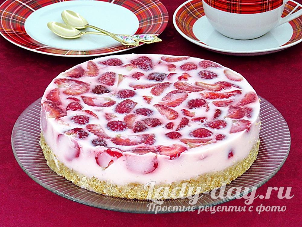 Йогуртовый торт. рецепт с пошаговым фото