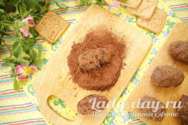 обваливаем каждую в какао
