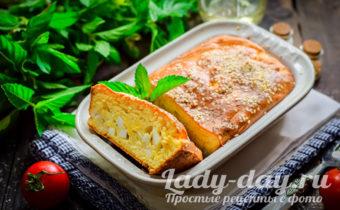Заливной пирог с яйцами и рисом