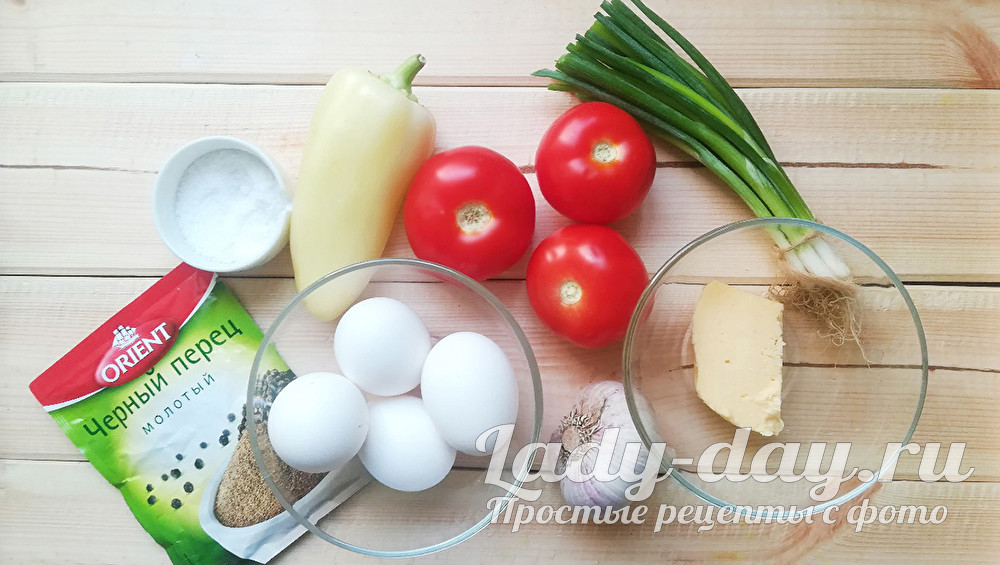 яйца и овощи