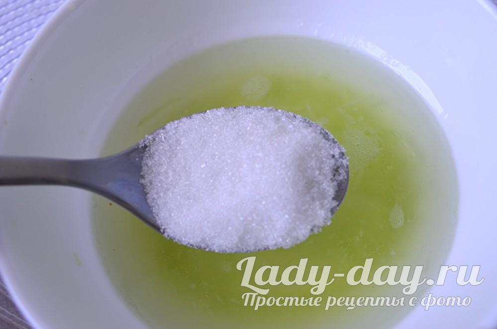 отжать сок и сахар
