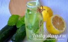 лимонад с огурцами и лимоном