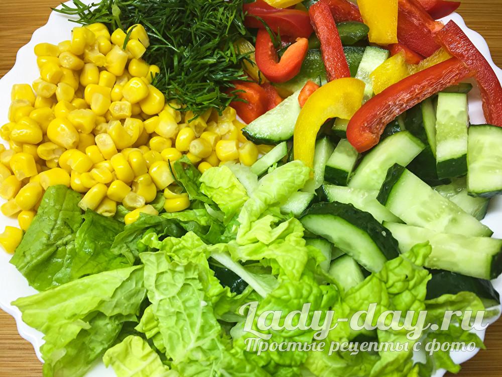 Салат с пекинской капустой  рецепт с фото