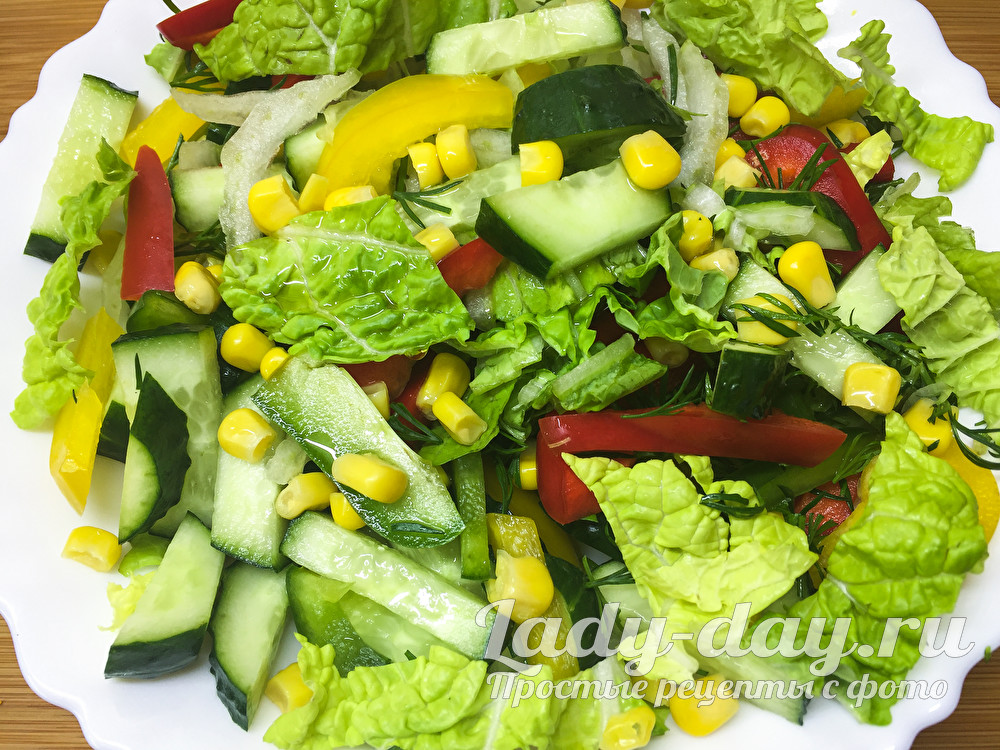 Салат с пекинской капустой простой и вкусный рецепт с фото