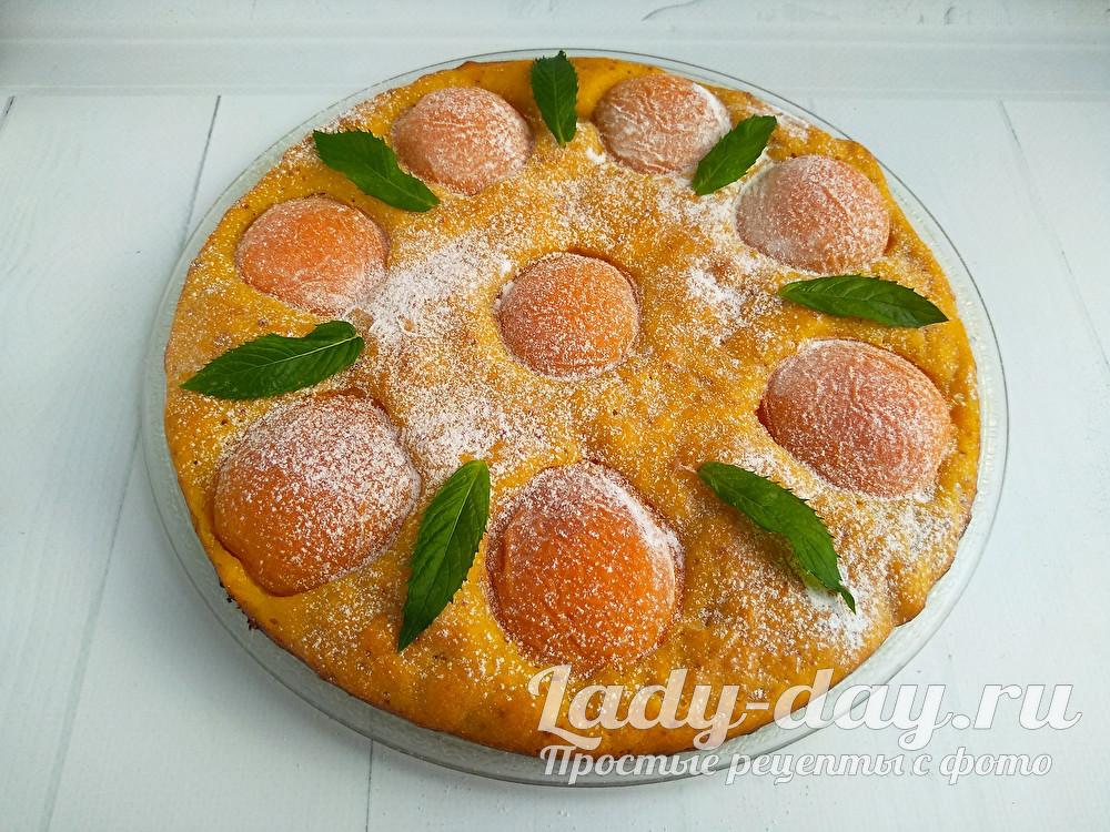 Пирог с абрикосами, рецепт с фото пошагово в духовке