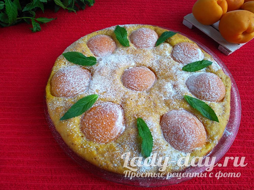 Пирог с абрикосами, рецепт