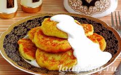 Картофельные оладьи из вареной картошки, рецепт с фото