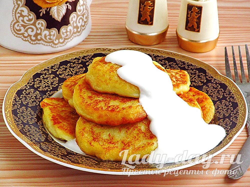 Картофельные оладьи из вареной картошки фото