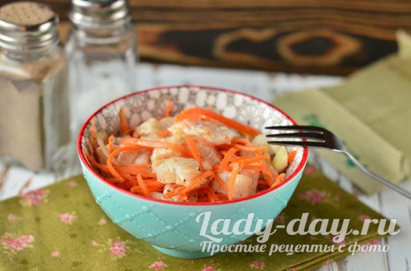 закуска из судака с овощами