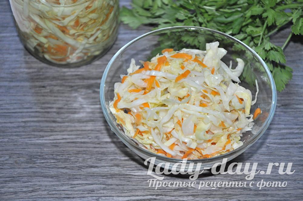 Капуста с морковью и уксусом для похудения
