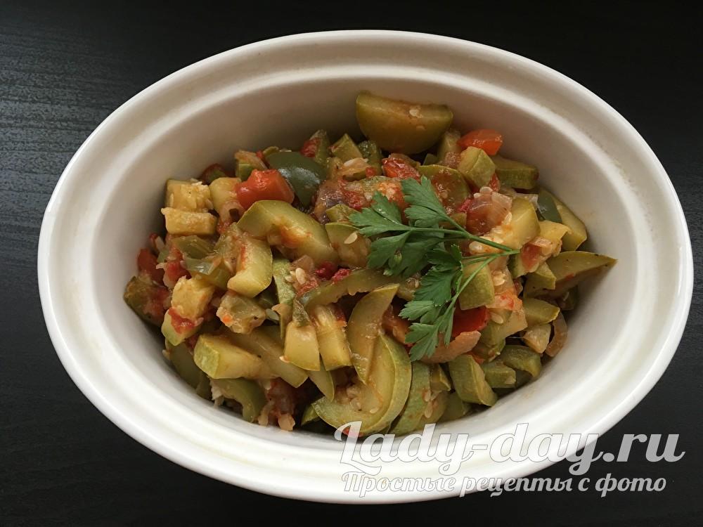 Рагу из кабачков рецепт с фото быстрый и вкусный