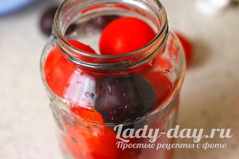 помидоры со сливами на зиму рецепты с фото