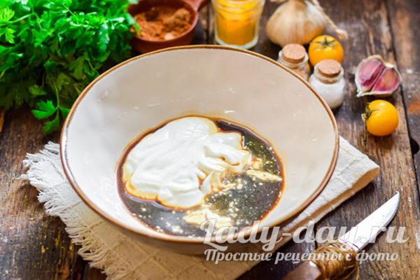 сметана и соевый соус