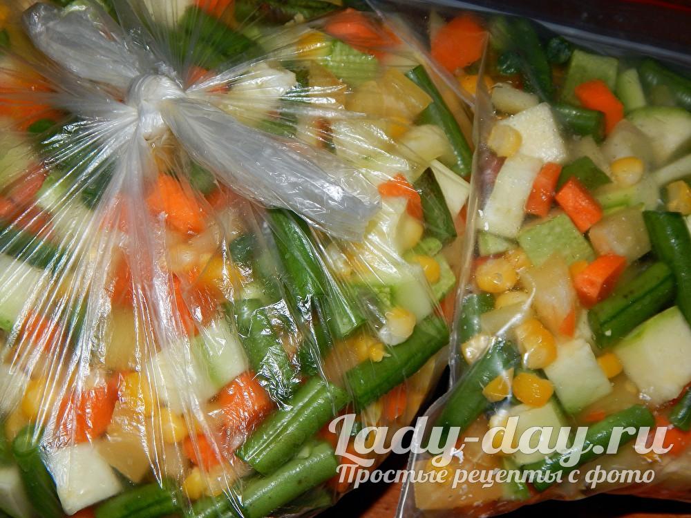 как заморозить овощи на зиму в домашних условиях