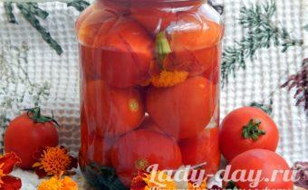 помидоры с бархатцами на зиму рецепты на литровую банку