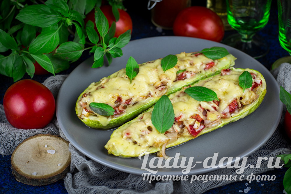 запеченные кабачки с помидорами и сыром в духовке