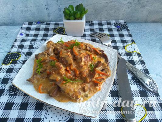 вкусное блюдо из печени